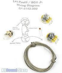 gibson les paul jr zeppy io wiring kit for gibson® les paul sg jr complete w diagram cts pots switchcraft