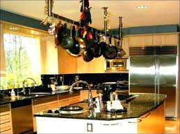 stainless steel wall mounted pot rack hanging holder premier contemporary ceiling