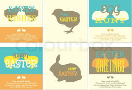 Easter Greeting Card Template Amazing Happy Easter Greeting Card Templates Vector Illustration Stock