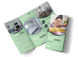 Cleaning Brochure House Cleaning Tri Fold Brochure Template