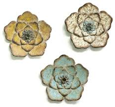 multi color chic metal flower wall
