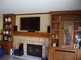 Over The Fireplace Tv Cabinet Wonderful Picture Of Living Room Decoration Using Twin Wall