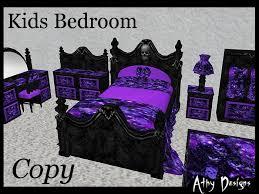 Purple Skull Kids Bedroom Furniture Set