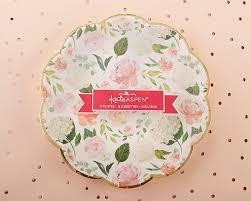 Pink Flower Paper Plates Floral Paper Plates Set Of 8