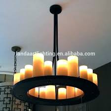 rustic candle chandelier non electric outdoor exotic linear majestic 9