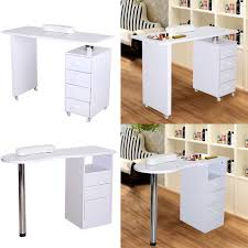 dels about technician manicure table white nail art beauty salon workstation desk drawers
