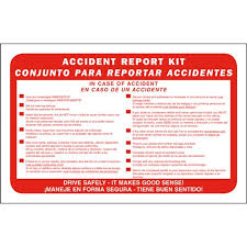 Bilingual Accident Report Kit