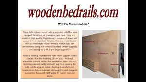 wooden bed rails bed support beams