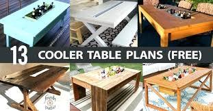 beverage cooler table plans outdoor beer coolers wheels bar beverage cooler table waterproof outdoor