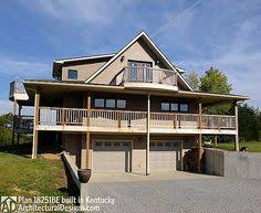 images about Homes for the Sloping Lot on Pinterest   House    Architectural Designs House Plan BE has a car drive under garage  to