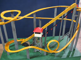 picture of motorized marble roller coaster