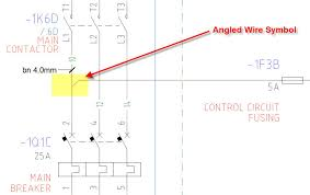 autocad electrical training tutorials webinars tips and tricks the angled wire tee symbol in autocad electrical serves two purposes starting version 2008 the angled wire symbol orientation clears up the ambiguity