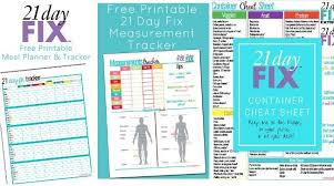 Free Printable 21 Day Fix Body Measurements Tracker My
