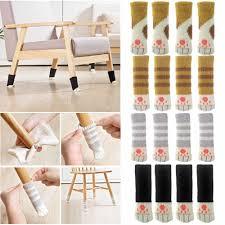 Hot Sale <b>Lovely 4Pcs Cat</b> feet Chair Leg Table Foot Covers Floor ...