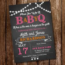 Chalkboard BaBy-Q Baby Shower Invitation for a Girl