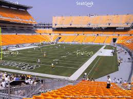 Heinz Stadium Seating Chart 44 Explicit Pittsburgh Steelers Seating View