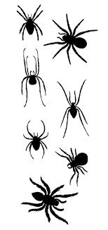 蜘蛛のシルエットの無料イラストイラストレーター素材aieps商用可能