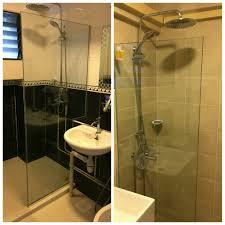 alum acrylic sliding shower screen from 480 per set