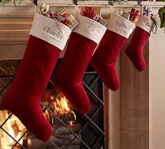 red velvet christmas stockings. Beautiful Red Alternate View On Red Velvet Christmas Stockings Pottery Barn