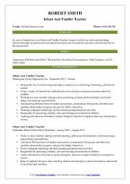 Toddler Teacher Resume Cool Infant Teacher Resume Preschool Teacher Resume Sample Writing Tips
