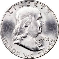 1961 Half Dollar Value Chart 1961 50c Ms Franklin Half Dollars Ngc