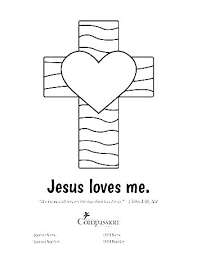 Jesus Loves Me Coloring Page Loves Me Coloring Page Acts Receives 1