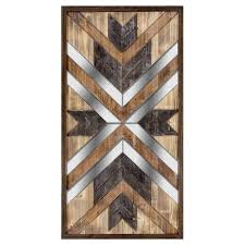 wooden mirror panel wall art 23 x 43 in on rectangular wooden wall art with wooden mirror panel wall art 23 x 43 in at home