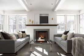 enchanting mantel decorating ideas freshome modern fireplace living room design decor electric with tv over layout