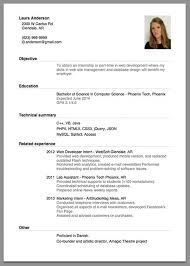 Resume Sample For Job Application