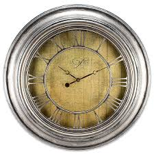 silver openwork roman numeral wall clock to enlarge