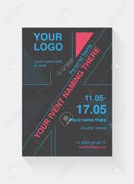 Flyer Template Based On British Flag Design Leaflet A5 Cover