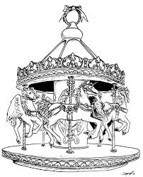Small Picture Carousel Coloring Pages chuckbuttcom