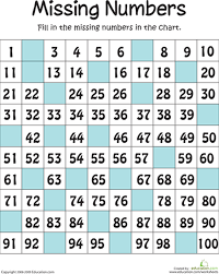 8 Worksheets Missing Numbers Counting To 100 Number