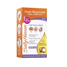 sally hansen hair remover wax kit for face brows and 34 count