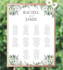 Etsy Wedding Seating Chart Table Plan Wedding Seating Chart Wedding Seating Chart Template Wedding Seating Plan Find Your Seat Sign Seating Chart Sign Greenery