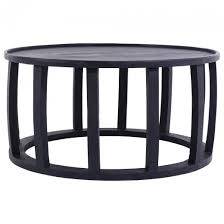 ink round coffee table black 800x400 mm