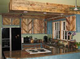 Pallet Kitchen Furniture Reclaimed Kitchen Cabinets Pallets Used To Reface The Cabinet
