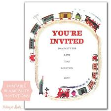 Blank Party Invitations To Print Adorable Free Printable Invite From