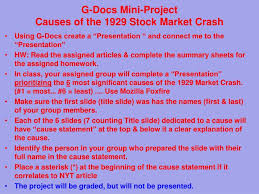 causes of the stock market crash of the stock market crash of 1929 essay the stock market