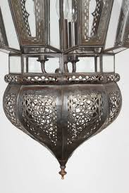 pair of moroccan vintage hanging glass light fixtures 3