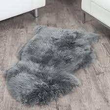dover grey sheepskin rug 2x3 5 ft