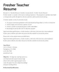 Special Ed Teacher Resume Custom Resume Samples For Teachers With Experience In India And Samples Of