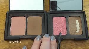 elf contour kit swatches. nars orgasm laguna vs elf contouring blush \u0026 bronzer powder - youtube contour kit swatches