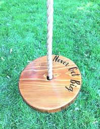 round tree swings for s never get big ing wooden rope outdoor wood australia