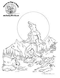 Small Picture Halloween Wolfman Werewolf coloring page Color Halloween
