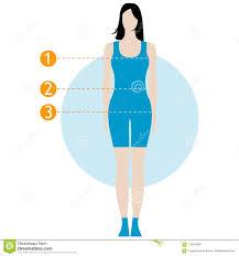 Female Body Measurement Chart Figure Of The Girl Model In