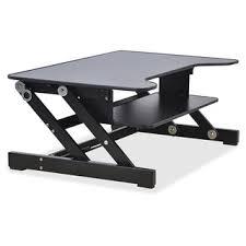 white home office furniture 2763 lorell sit to stand monitor riser bush aero office desk design interior fantastic