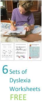 Six Sets Dyslexia Worksheets - Kinesthetic and Dyslexic Learning ...
