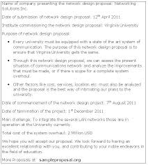 Proposal Sample Doc Gorgeous Network Project Proposal Template Ramautoco