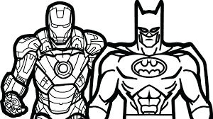 coloring: Batman Vs Iron Man Coloring Book Pages Kids Fun Free To ...